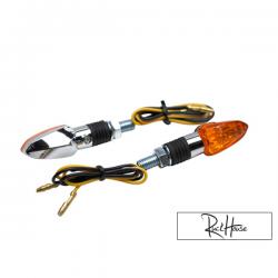 (2X) Indicators Replay Mini Arrow Orange / Chrome