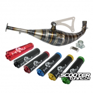 Exhaust System KRM 90-100cc (Bidalot Cylinder) Minarelli Horizontal