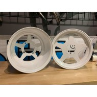Fatty Wheels Set - 12x8 4x100 / 12x3.5 4x90 - WHITE Powdercoat