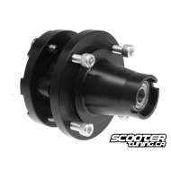 Complete Front Wheel Hub Black (4x90) 12mm Axle