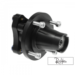 Front Wheel Hub Ruckhouse V2 Black (4x90) 12mm Axle