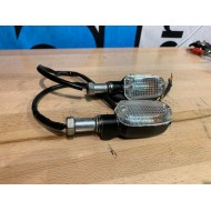 2x Turn Signals - Unknown model - Metal - USED