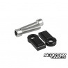 Swingarm Extension Billet Stoppers TRS Black (Grom)