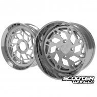 Wheel Set Ruckhouse Snow Flake V1 CNC 2-Piece Honda Grom (13x6-13x4.5)