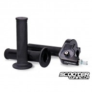 Quick action throttle VOCA CNC Black with Grips