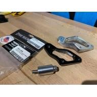 Rear set Exhaust adaptor TRS (alu) & composimo (black)