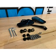 Mirror set F1 Series CNC Black M8/M10 (2X) - OPEN BOX
