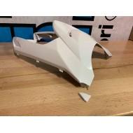 Front Cover White Metallic (Yamaha Zuma X 50) - CRACKED