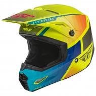 Helmet Fly Kinetic Drift Blue / Hi-Vis / Charcoal