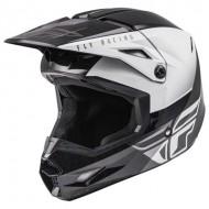 Helmet Fly Kinetic Straigh Edge Black / White