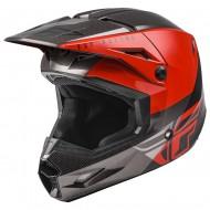 Helmet Fly Kinetic Straigh Edge Red / Black / Grey