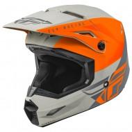 Helmet Fly Kinetic Straight Edge Orange / Gray