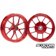 Forged Wheel set CNC Red Honda Dio / Elite