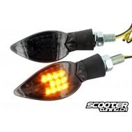 Indicators STR8 Curve LED Black Line, black transparent