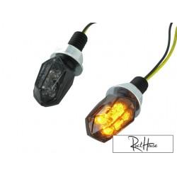 (2X) Indicators STR8 LED Mini II Black-Line, black / black