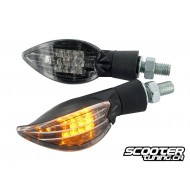 (2X) Indicator set STR8 Curve LED, black