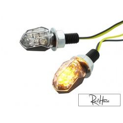 (2X) Indicators STR8 LED Mini II black / transparent