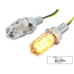 (2X) Indicators STR8 LED Mini II chrome / transparent