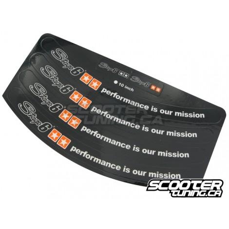 Rim stickers Stage6 12/13 inch rim (black)