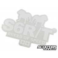 Sticker Stage6 R/T 91 x 65 mm (white)