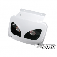 Twin headlamps BCD Rx White