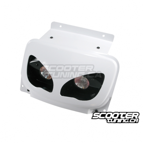 Twin headlamps (lenses), BCD Rx, MBK Booster (built since 2004), white