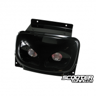 Twin headlamps (lenses), BCD Rx, MBK Booster (built since 2004), black