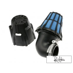 Air filter Polini Short 90° Black (37mm)