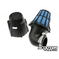 Racing air filter Polini short 90deg 37mm
