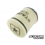Racing air filter Stage6 Double-Layer White 70mm connection