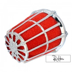 Air filter Malossi E5 Red/Chrome (36/38mm)