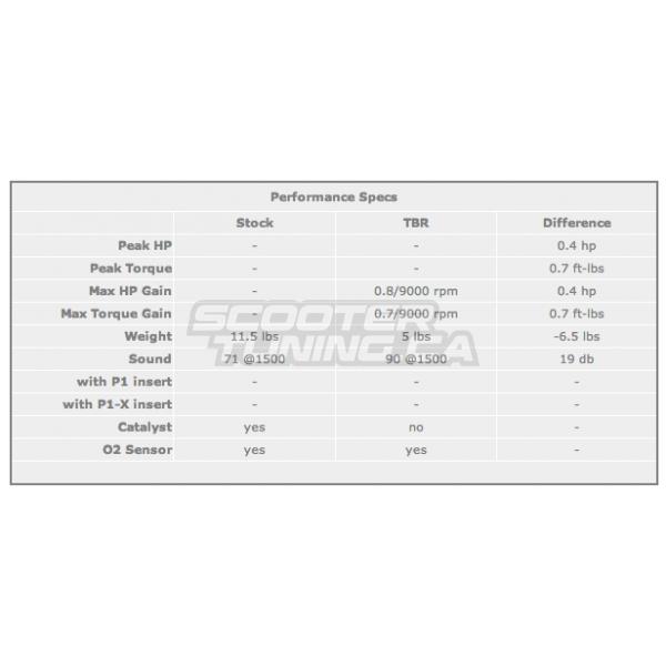 Exhaust Two Brothers Racing Black series Bws 125 (Aluminium