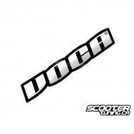 Sticker Voca Racing Black/Chrome 11x4cm