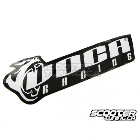 Sticker Voca Racing Black/White 11x4cm