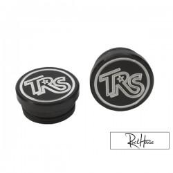 Aluminium Frame Cap TRS Logo Black Honda Ruckus