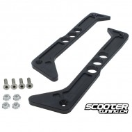 Billet Step Rails rPRO Black Honda Ruckus