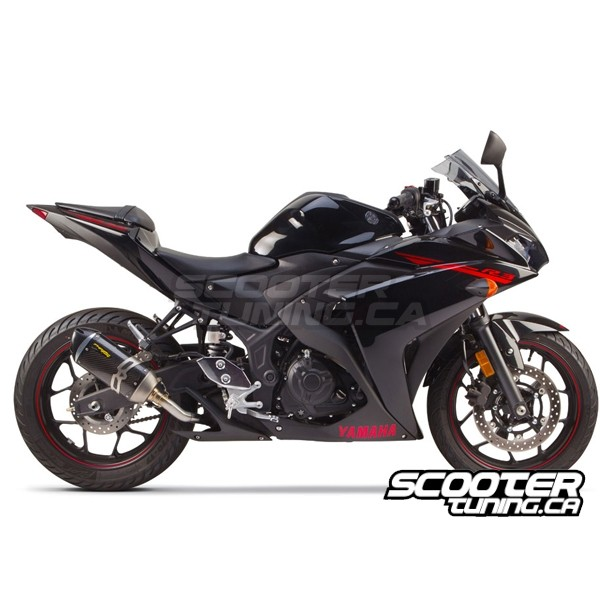 exhaust two brothers racing s1r yamaha r3 distribution scootertuning. Black Bedroom Furniture Sets. Home Design Ideas