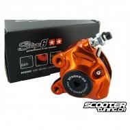 Front Brake Caliper Stage6 R/T CNC Orange/Black
