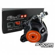 Front Brake Caliper Stage6 R/T CNC Black/Orange