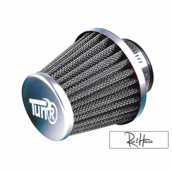 Air filter Tun'r KN Style straight Chrome (28-35mm)