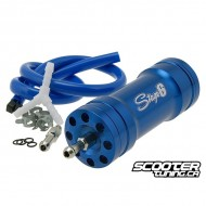 Boost bottle Stage6, blue anodised, incl. mounting material