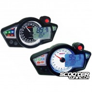 Speedometer Koso RX1NR White Display