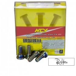 Brake Disc Screw NCY Electroplated (4) Honda Ruckus