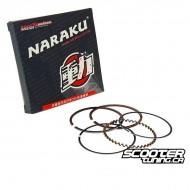 Piston ring set Naraku 50cc for Piaggio 4-stroke