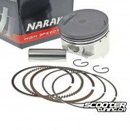 Piston set Naraku 50cc for Piaggio 4-stroke