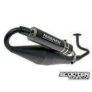 Exhaust Naraku Crossover Black/Carbon GY6 50cc