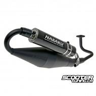 Exhaust Naraku Crossover Black/Carbon GY6 50cc