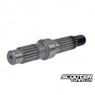 Final drive shaft short (drum brake) for GY6 50cc 139QMB/QMA