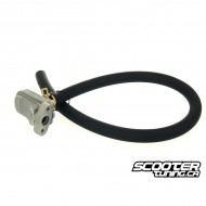 Exhaust secondary air system with tube for GY6 50cc