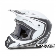 Helmet Fly Kinetic Full Speed Matt White/Black
